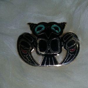 Brass/Enamel Haida Art scatter pins, EUC